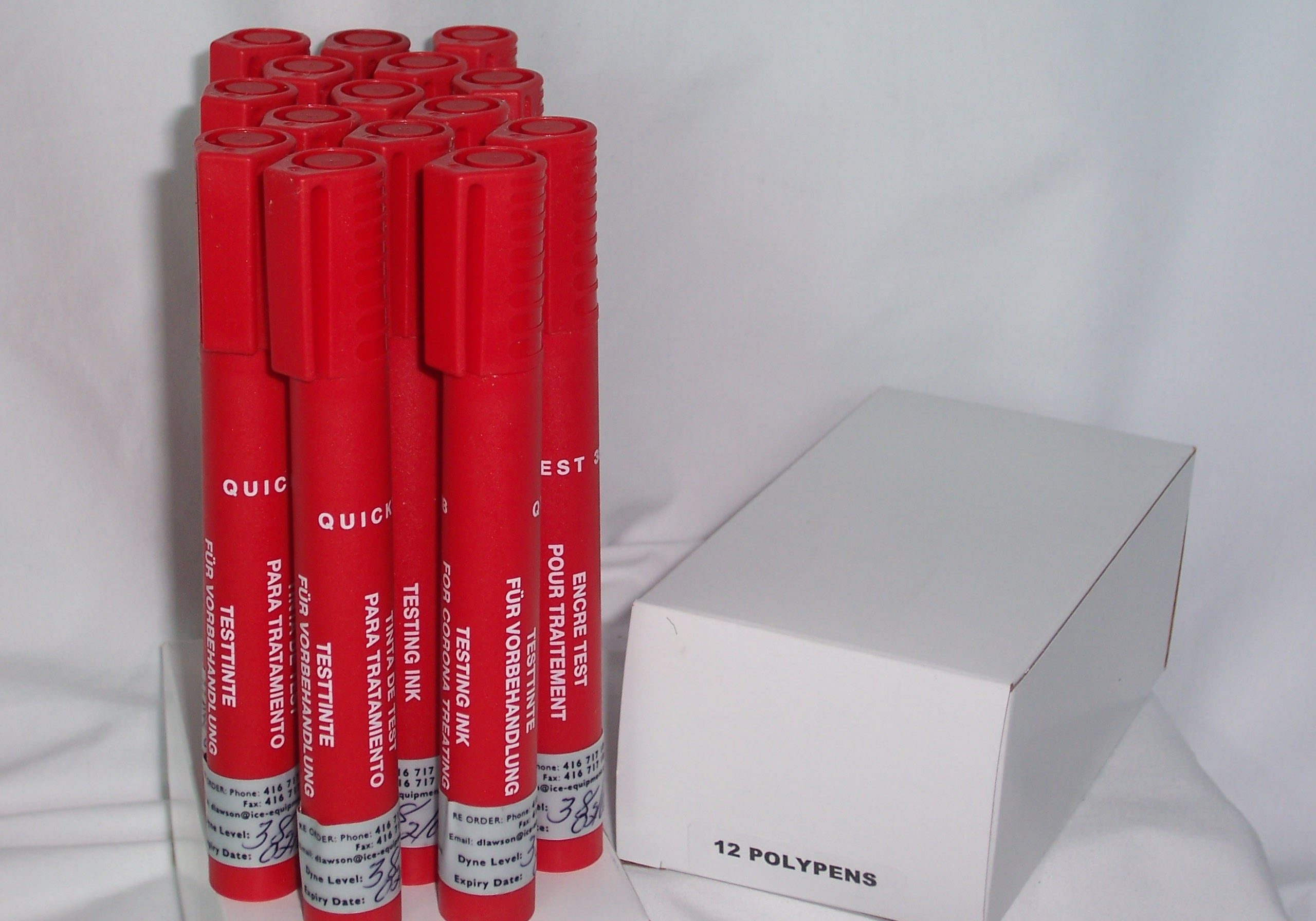 Quick Test Red 38-40 Dyne pens Enviro friendly